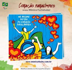 Mônica Fuchshuber faz ilustração para Campanha da Paralimpíadas 2016