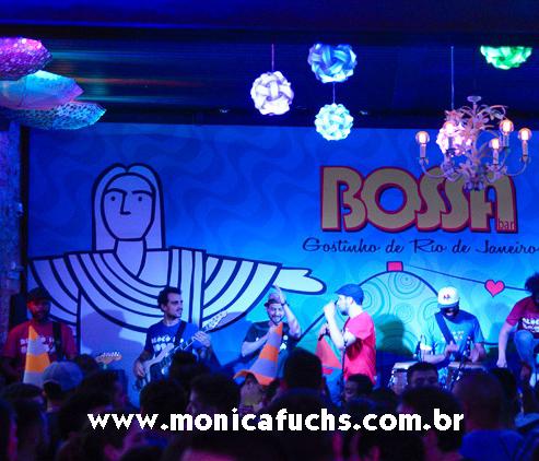 Ilustrações de Mônica Fuchshuber são usadas na decoração do Bossa Bar!