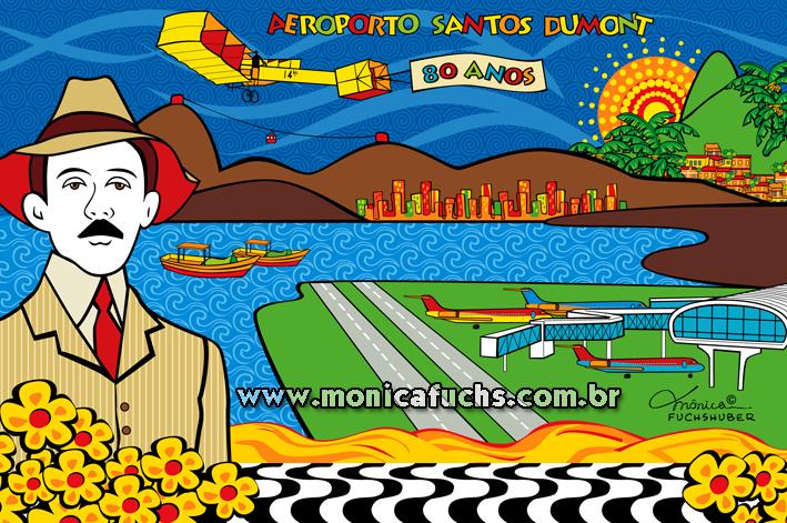 Mônica Fuchshuber homenageia o Aeroporto Santos Dumont nos seus 80 anos
