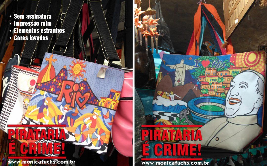 Produtos by Mônica Fuchshuber pirateados – Feira de São Cristovão – RJ