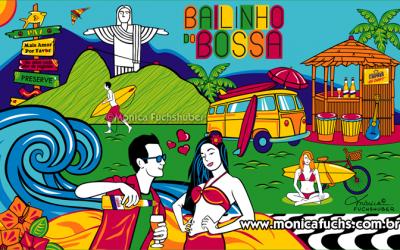 Bossar Bar faz Canga Promocional com Artes by Mônica Fuchshuber