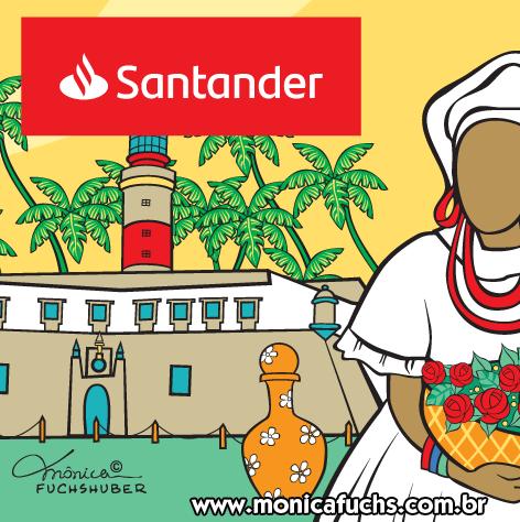 Mônica Fuchshuber desenvolve arte para o Banco Santander, Agência Pituba, em Salvador